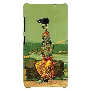 ColourCrust Microsoft Lumia 535 / Dual Sim Mobile Phone Back Cover With Vintage Krishna Poster - Durable Matte Finish Hard Plastic Slim Case