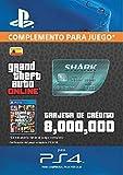 Grand Theft Auto Online - GTA V Cash Card | 8,000,000 GTA-Dollars | Código de descarga PS4 - Cuenta...