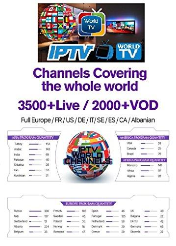 Goosoo Smart IPTV Cuenta de suscripción a 3500 canales de TV y 2000 vídeos bajo de demanda para Francia, Estados Unidos, Canadá y Europa