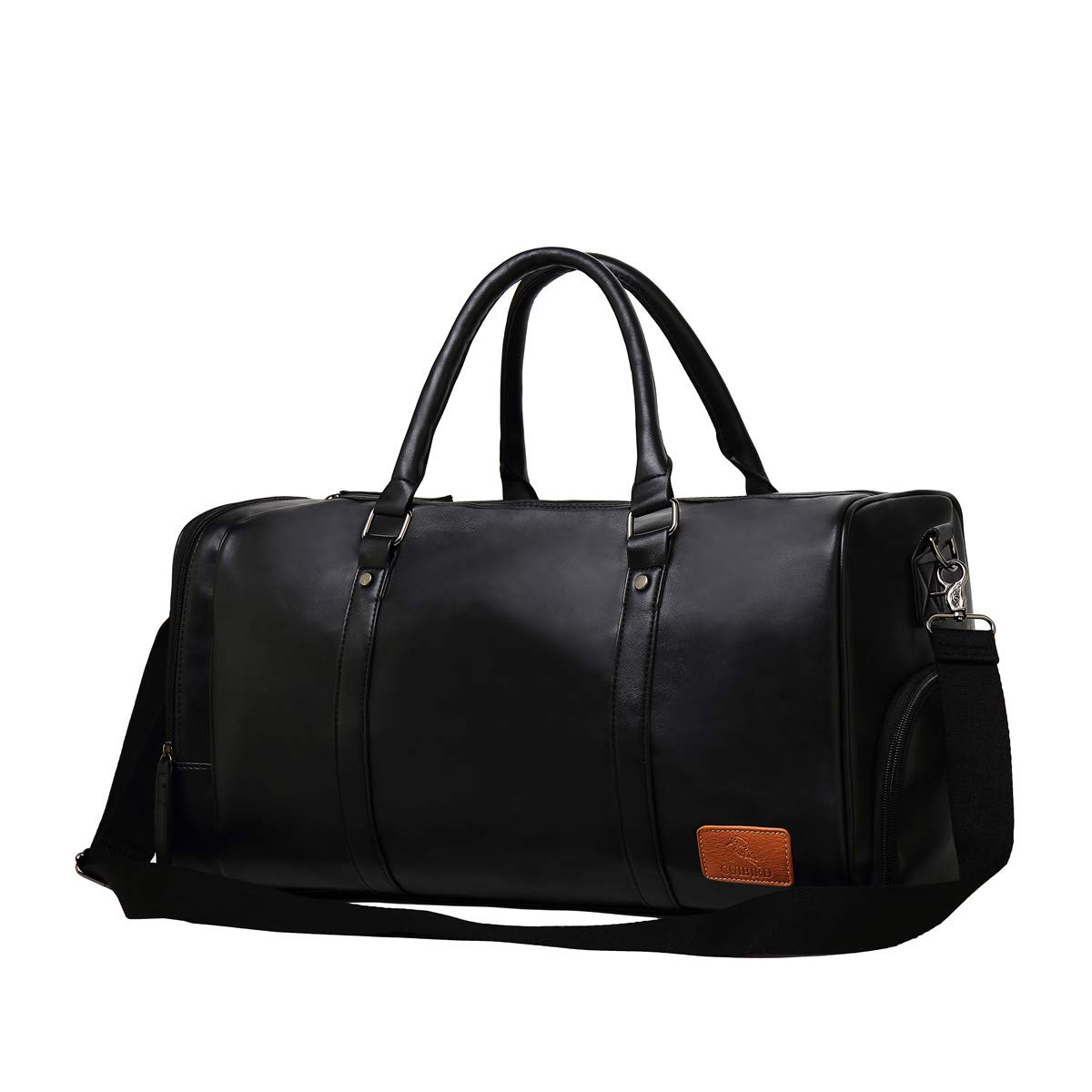 9226d00a1766 CUIBIRD Mens & Womens 40L Large Overnight Bag Vintage Leather Travel Duffel  Bag Waterproof Sports Training Tote Bag with Shoes Compartment - Luggage ...