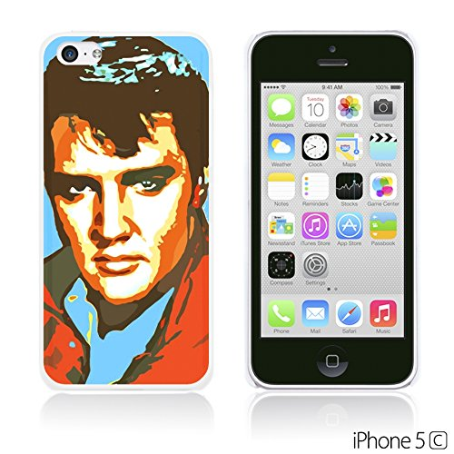 OBiDi - Celebrity Star Hard Back Case / Housse pour Apple iPhone 5C - Elvis Presley Pop Art Elvis Presley Oil Painting