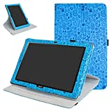 Acer Iconia One 10 B3-A40 Rotating Coque,Mama Mouth 360 Degree Rotating PU Cuir...