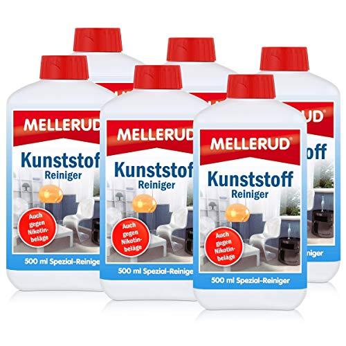 Mellerud Kunststoff Reiniger 500ml - Auch gegen Nikotinbeläge (6er Pack)