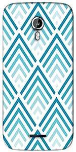 Snoogg Super blue design Designer Protective Back Case Cover For Micromax A117