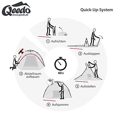 Qeedo Quick Pine 3 Sekundenzelt - blau - 4