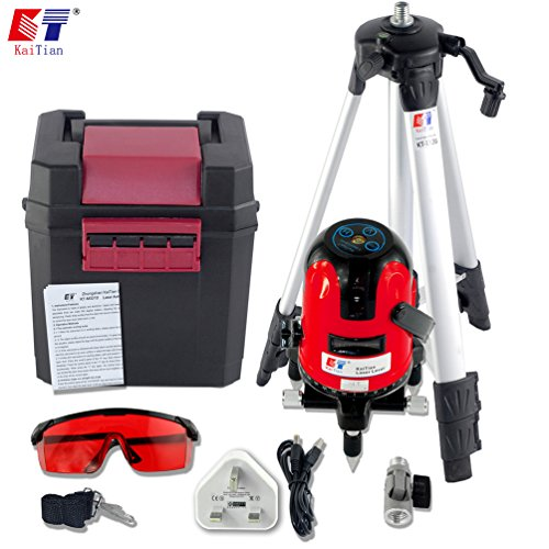 kaitian-red-rotary-laser-level-cross-line-laser-kit-with-tripod