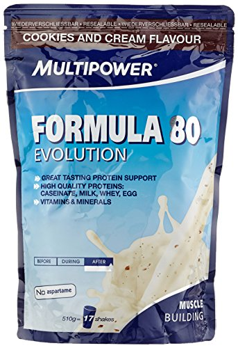Multipower Formula 80 Evolution, Cookies & Cream, 510 g -