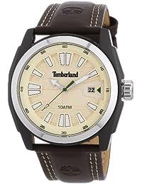 Timberland - TBL.13853JSBS/07 - Dunster - Montre Homme - Quartz Analogique - Cadran Beige - Bracelet Cuir Marron