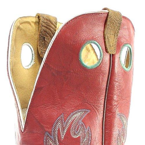 Boulet  9117, Bottes et bottines cowboy homme Multicolore - Navajo Red