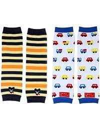 2× Baby Socken Cotton Leggings Kinder Knieschützer Mädchen Jungen Legs