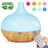 ENHOOTA Diffuser, 400ML Essential Oils Aromatherapy Diffusers Wood Grain Humidifier Electric Ultrasonic Air