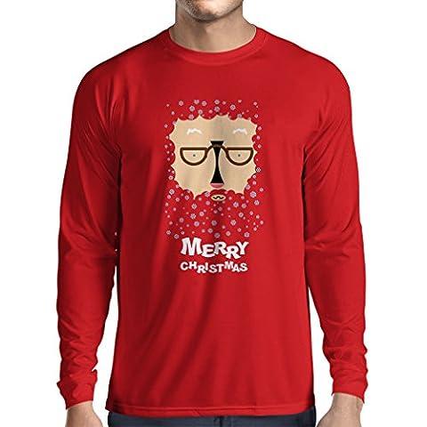 T-Shirt mit langen Ärmeln Lustige Weihnachtst-shirt Weihnachtsgeschenke (X-Large Rot Mehrfarben)