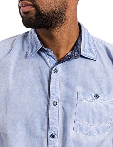 Timezone - Chemise Casual - coupe droite - Col Chemise Classique - Manches Courtes Homme Blau (allure blue 3852)
