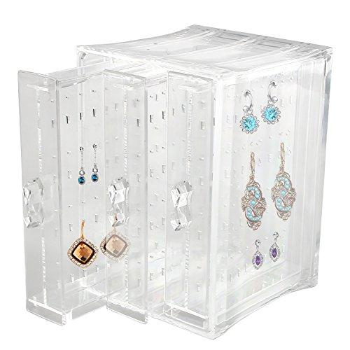 Discoball Acrylique 3 panneaux Organiseur bijoux boucles d'oreilles