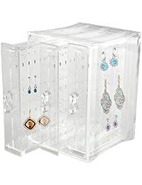 Discoball Acrylic 3 Panels Earrings Holder Jewellery Organiser