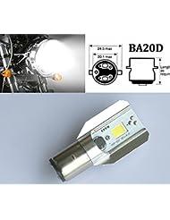 Blanc voiture/auto BA20D H6Socket 6–80V 12W COB LED Lampe Ampoule 6000K 800LM