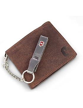 Safekeepers Cartera de Piel - para Hombre - Protección RFID / NFC - Cadena Posibilidad