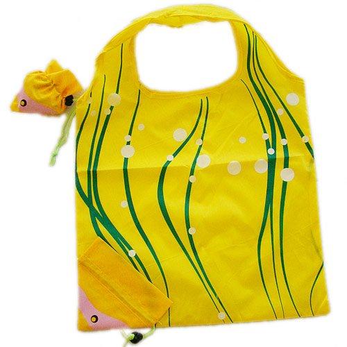 Vigorgift-Foldable-Shopping-Bag-Fish-Yellow-by-Vigorgift
