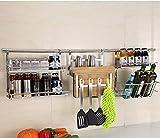 Besteck Racks Regal Edelstahl-Küche-Zahnstange, Wand-hängendes Gewürz, Küche-Versorgungsmaterialien Küchenregal ( Farbe : 7# 120cm )