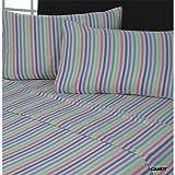 Lenzuolo termico - 100% flanella di cotone pettinato - con elastico - Panna - Matrimoniale UK