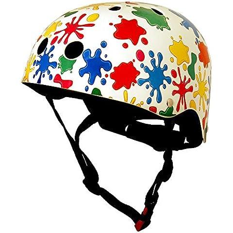 Kiddimoto 2042333 - Casco de ciclismo infantil, color multicolor