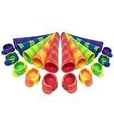 Bramble Eisformen EIS am Stiel selber Machen – BPA freie Ice Maker Formen aus flexiblem und haltbarem Silikon – EIS-Pops mit Deckel Kappe – einfach zu reinigen (10er Set)