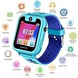 Smartwatch per Ragazzi Ragazze GPS Tracker, Orologio Digitale con Posizione GPS LBS Conversazione Bidirezionale Sveglia Smart da Polso Camera Torcia Giochi per Bambini Compatibile con iOS/Android