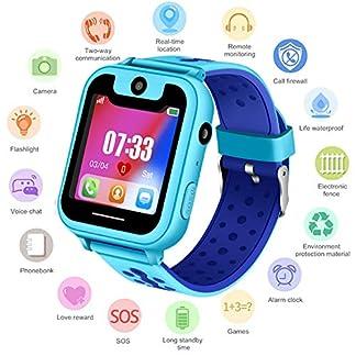 Niños Smartwatch – Reloj de Pulsera Inteligente con ubicación GPS/LBS Reloj Despertador SOS Reloj Digital Cámara Linterna Juegos para niños compatibles con iOS/Android