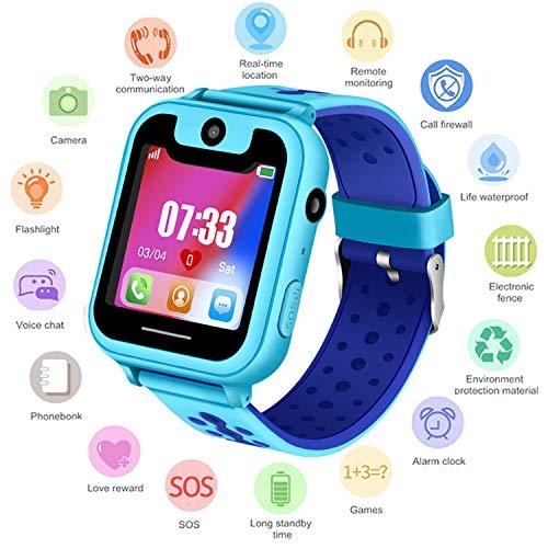 Niños Smartwatch - Reloj de Pulsera Inteligente con ubicación GPS/LBS Reloj Despertador...