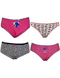 Pepperika Cotton Panties For Girls For 13 Years (Pack of 4)