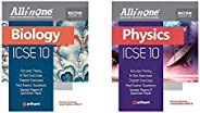 All in One ICSE Biology Class 10 2020-20 + All in One ICSE Physics Class 10th - Set of 2 Books(New Edition)