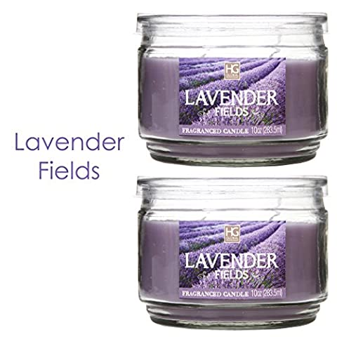 Hosley Set of 2 Lavender Fields Highly Scented, 2 Wick,