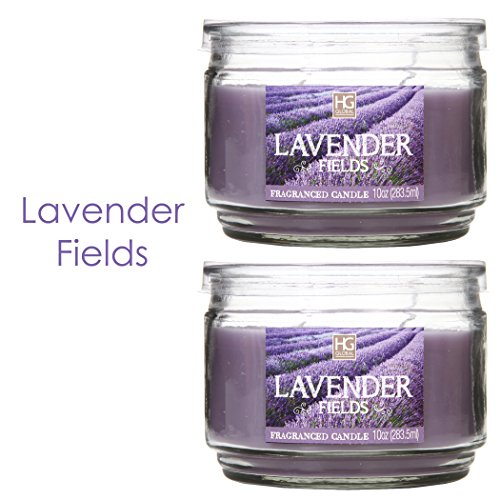 Hosley-Set-of-2-Lavender-Fields-Highly-Scented-2-Wick-10-Oz-wax-Jar-Candle-Ideal-votive-GIFT-for-party-favor-weddings-Spa-Reiki-Meditation-Bathroom-settings