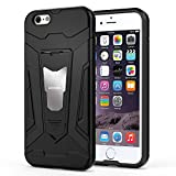 HOOMIL Funda iPhone 6,Funda iPhone 6S Negro Armor Funda para Apple iPhone 6/6S Carcasa Shock-Absorción Silicona Case - Negro (H3230)