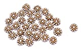 #9: Beaded Applique Gold Royal Patches Applique Floral Shape Sewing 12 PC Craft Supply Decorative For Sari Blouse Suit By Handicraft-Palace