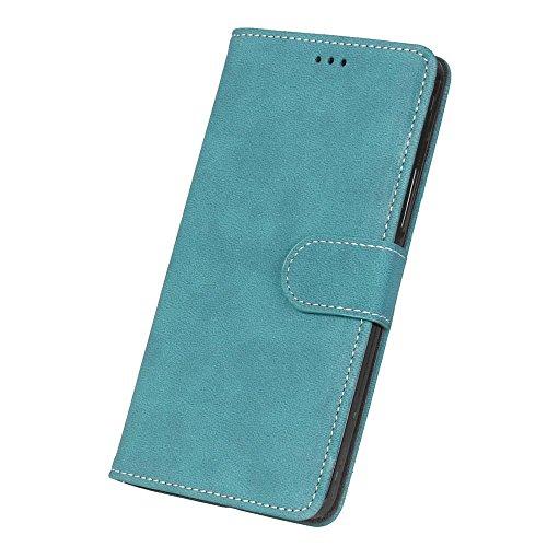 Solid Color Premium PU-Leder Tasche Cover matt Retro Flip-Ständer Case Wallet Fall mit Kartensteckplätze Photo Frames für Nokia Microsoft Lumia 850 ( Color : 5 , Size : Nokia Microsoft Lumia 850 ) 7