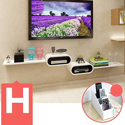 QiXian Set-Top-Box Regale Tv-Schrank Tv-Wandregale Wohnzimmerwand Trennwände Wandregal (Mehrere Stile Verfügbar) Wandkunst, h