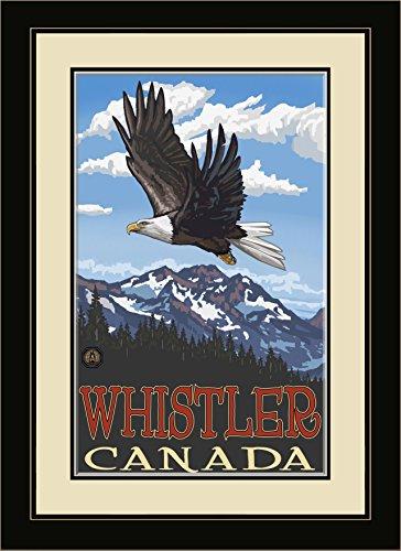 Northwest Art Mall pal-1964mfgdm EGS Whistler Kanada Adler in gerahmtes Wandbild Art von Künstler Paul A. lanquist, 13von 40,6cm