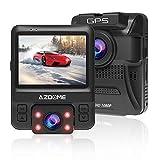 AZDOME Dash Cam GPS Per Auto, Telecamera Auto Doppia Lente Full HD 1080P + 720P e Visione Notturna Nitida, WDR|G-Sensor|Registrazione in Loop|Monitor di Parcheggio|Rilevatore di Movimento - GS65H