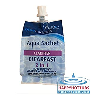 Blue Horizons Clarifier ClearFAST Aqua Sachet - 150ml Clear Fast Pools Hot Tubs