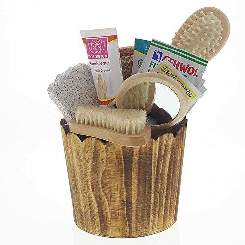 Dekorative Geschenksets für Bad oder Sauna mit Badezubehör, Saunazubehör, Kosmetex Bade- und Pflegeset, Set 7