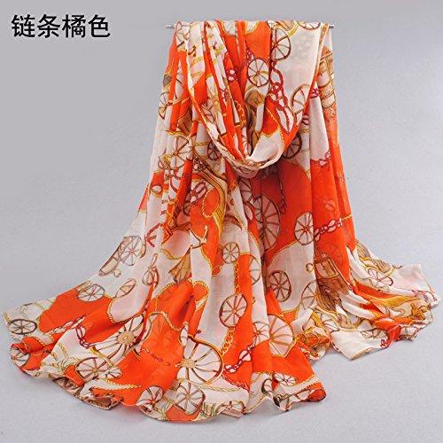 Decoration sj Sciarpa grande scialle chiffon della sezione lunga e scialle  della protezione solare d 2500e7335af