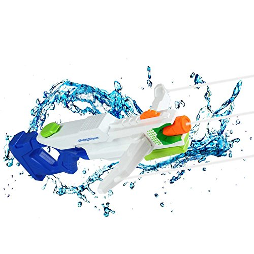 KOBWA Super Wasserpistole, 2000CC Wasserspritzpistole mit Tri Strike Armbrustarme, Wasserpistole Spielzeug für Kinder und Erwachsene