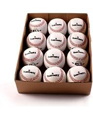 barnett BS-1 balle de baseball initiation, 9'', blanc, 1 douzaine