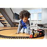 Funnytool Battery Operated Light Sound Smoke CHOOCHOO Classical Train Track Set For Kids