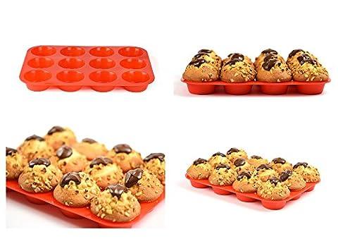 Premium silikon Muffinförmchen für 12 Muffins   BPA-frei und Antihaftbeschichtung