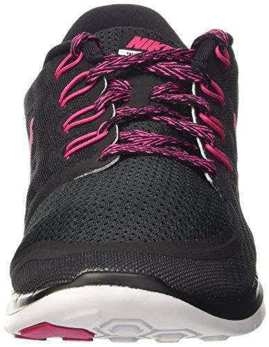 Nike Wmns Free 5.0, Chaussures de Sport Femme Black/Vivid Pink-Blanc