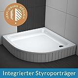 AQUABAD® Duschwanne Comfort Forta 90x90cm Viertelkreis R55 inkl. Styroporträger zum befliesen