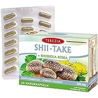 SHII TAKE + RHODIOLA ROSEA 300 mg - Vitalpilz SHII TAKE - 100% Pilzprodukt ohne Zusatzstoffe - 60 Naturliche Kapseln preisvergleich bei billige-tabletten.eu