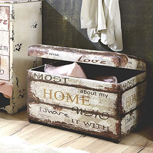 HAKU Möbel Sitztruhe vintage_2, 65x40x42cm - 4